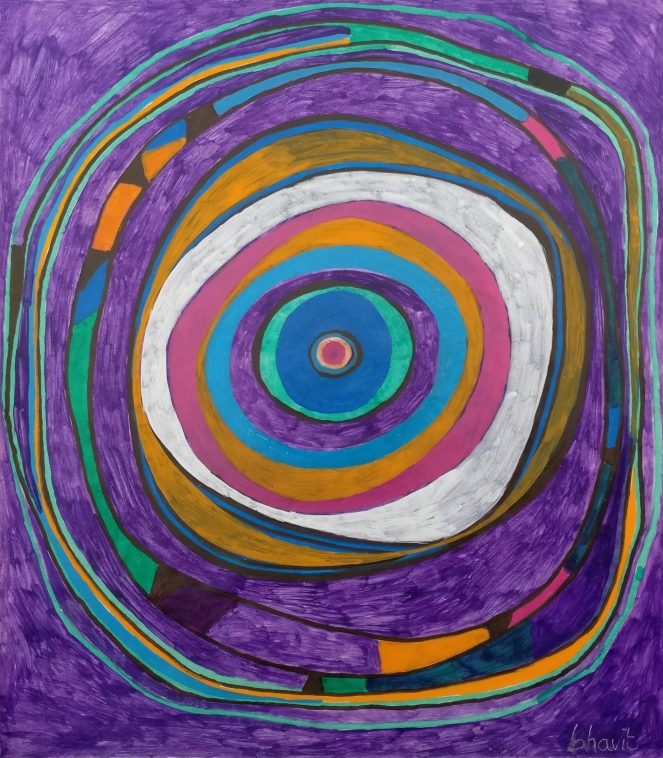 Circle on Violet